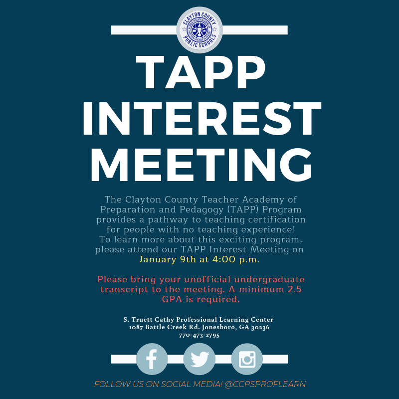 TAPP Interest Meeting January